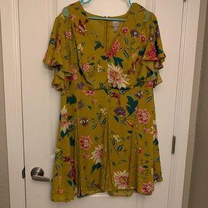Mustard Yellow ASOS Mini Dress
